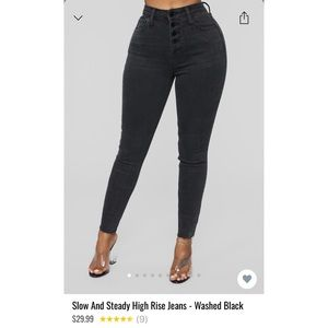 Fashion Nova High Rise Jeans size 15